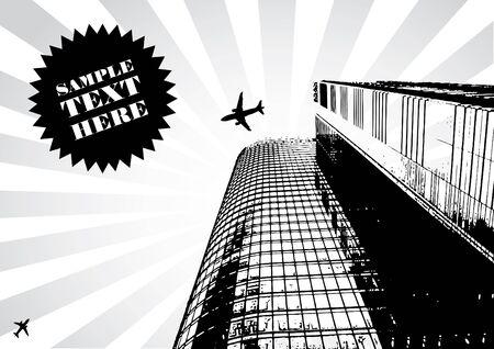 vector illustration of abstract urban skyscraper background Stock Illustration - 5512522