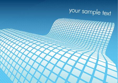 digital wave: Ilustraci�n de la onda digital azul