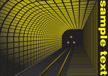 estación del metro: estaci�n de ferrocarril abstracto