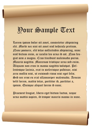 medieval scroll: old paper vector