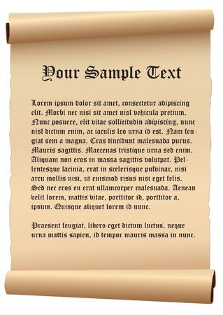 vector de papel antiguo