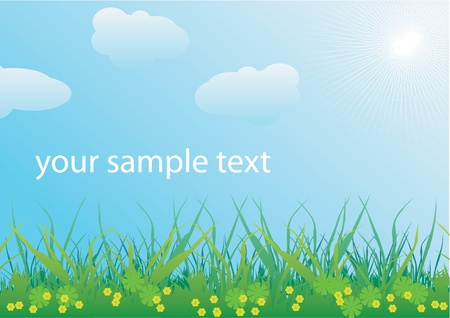 spring landscape vector Stock Vector - 9157689