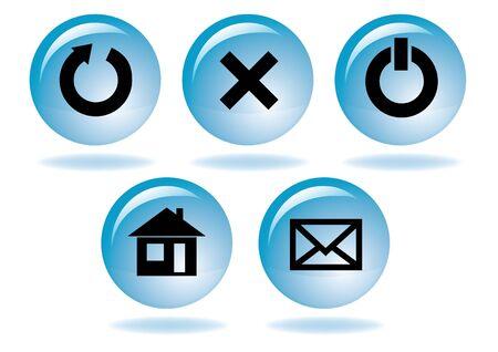 multimedia navigation icon set Stock Vector - 9157683