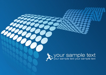 prospects: abstract blue wave design Illustration