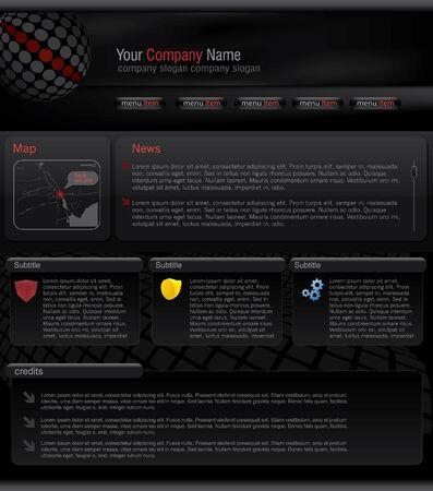 website template Stock Vector - 9162797