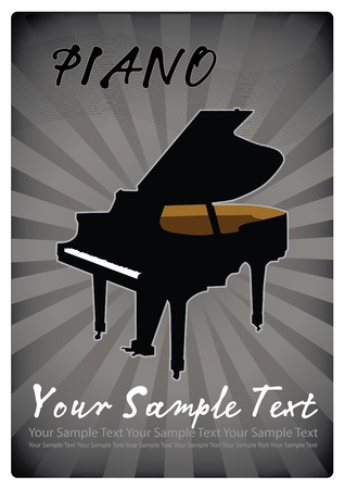 piano music vector Stock Vector - 9157711