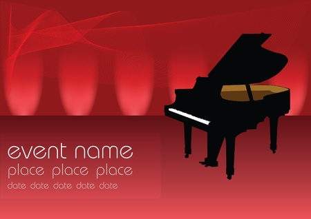 piano background: piano music vector Illustration