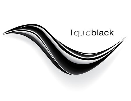 black wave design vector