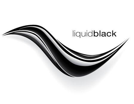 schwarz Wellenvektor design  Vektorgrafik