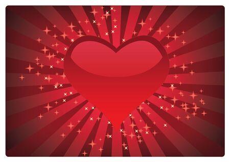 beautyful: heart beautyful background Illustration