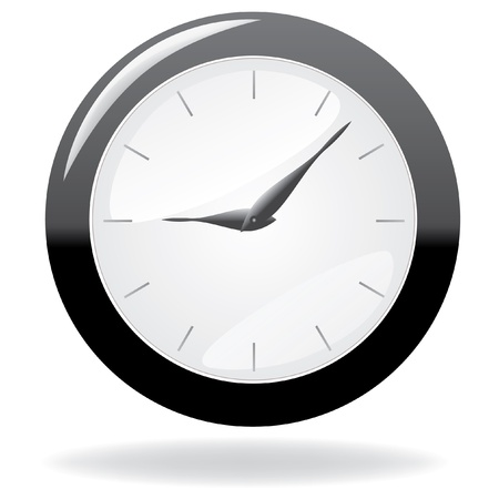 12 o'clock: clock with glossy elements Illustration