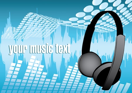 musical headphones design Stock Vector - 9225243