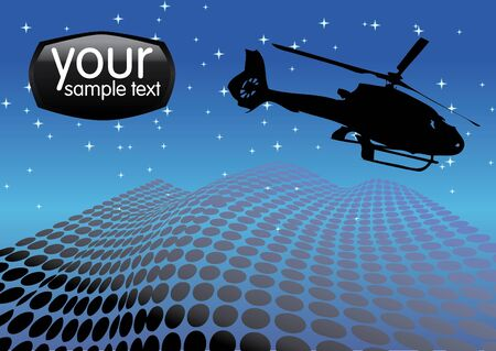 blackhawk helicopter: helicopter on the night sky vector  Illustration