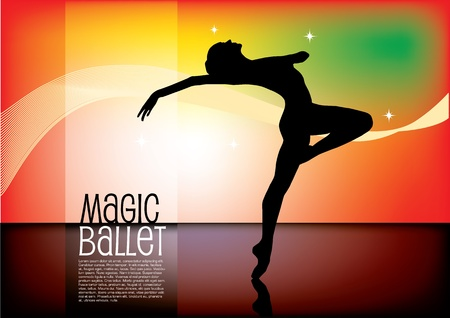 magic ballet vector background