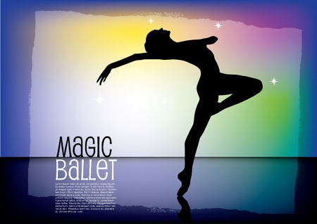 magic ballet vector background Vector