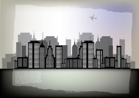 city panorama: city view Illustration
