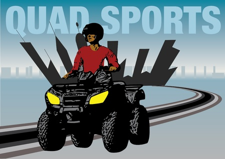 quad sports design Vector