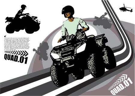 quad: quad sports design Illustration