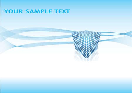 blue cube abstract design Stock Vector - 9721087