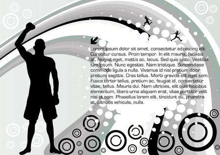 abstract sport design Vector