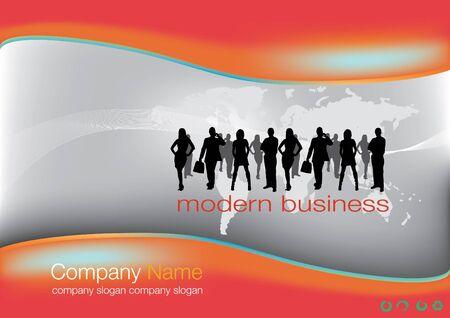 young professional: plantilla de sitio Web de negocios Vectores
