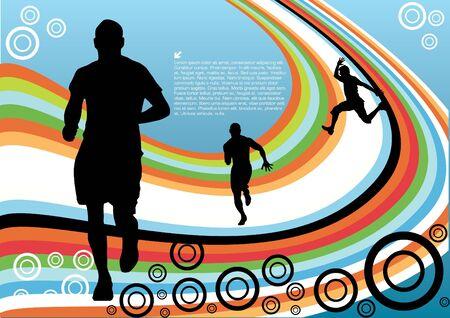 sport lines design vector Vector