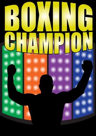 offense: boxing champion vector Illustration