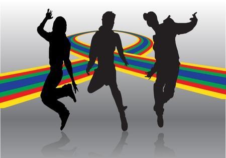 hip hop dancing: disco dance background