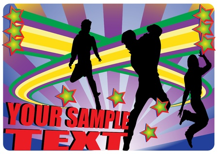 young dynamic people design Stock Vector - 9765493