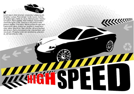high speed sport car design Vector
