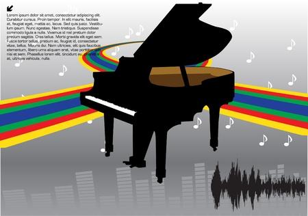 abstract piano design Stock Vector - 9765506
