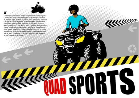 off road: quad abstract design