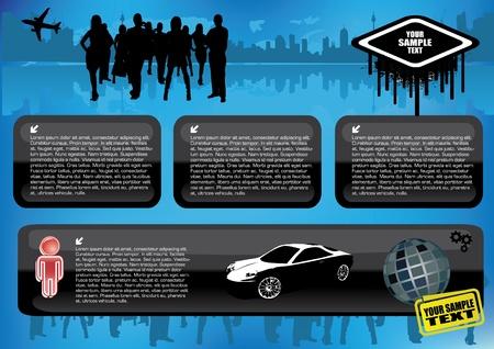 website backgrounds: web template vector