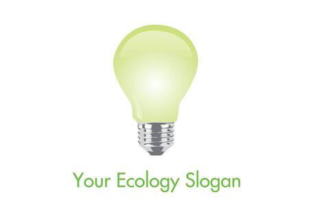 bombillo ahorrador: la ecolog?a bandera de la bombilla Vectores