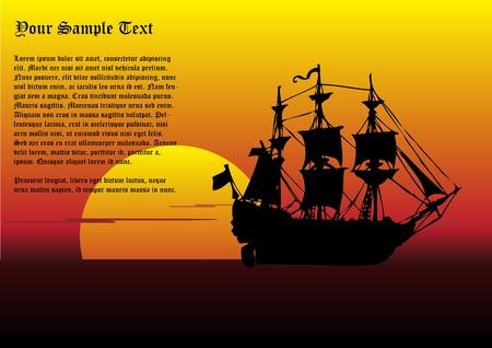 warship: sailing ship vector