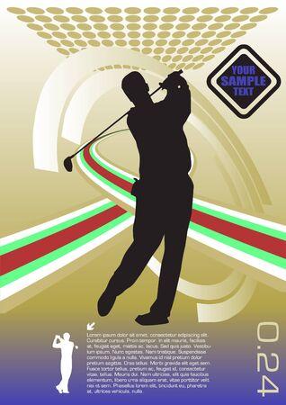 golfing: golf player technical vector