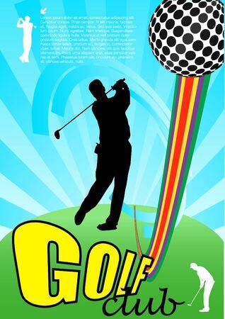 golf player abstract vector Vector