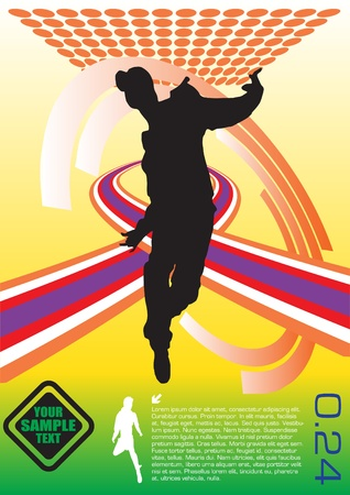 hand on hip: abstract dancer vector