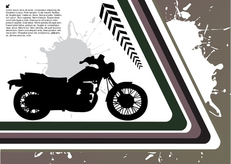 vector illustration of grunge motorcycle Vector