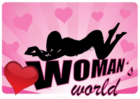 tall woman: sexy womans world vector