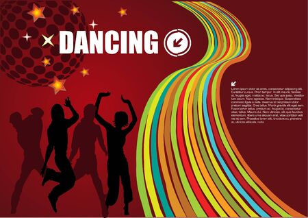 retro dancing vector Stock Vector - 9904968