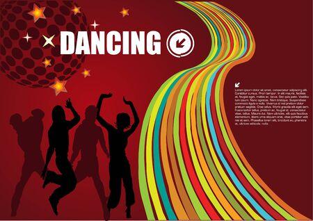 retro dancing vector Vetores