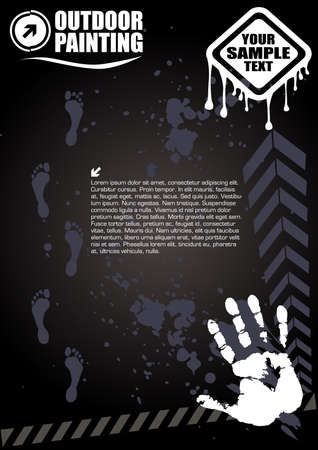 grunge splash poster Vector