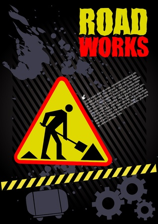 road works under construction  Vector