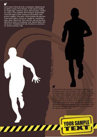 running man abstract design Vector