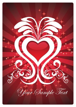 decorative heart Vector