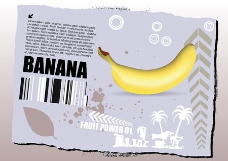 banana grunge design Stock Vector - 9934671