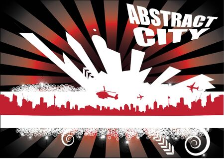 abstract city background Stock Vector - 9934675