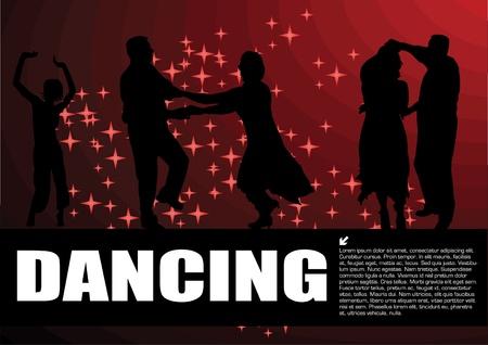 hot couple: dancing magic background