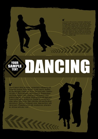 latin american: dancing grunge background